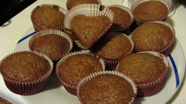 Cupcakes de Plátano y Avena