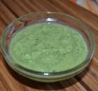 Salsa verde Cruda con aguacate