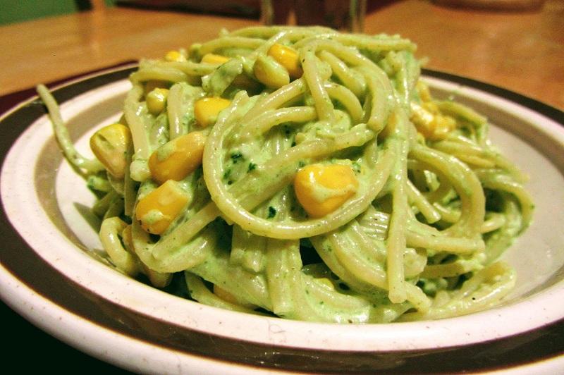 Pasta verde de chile poblano